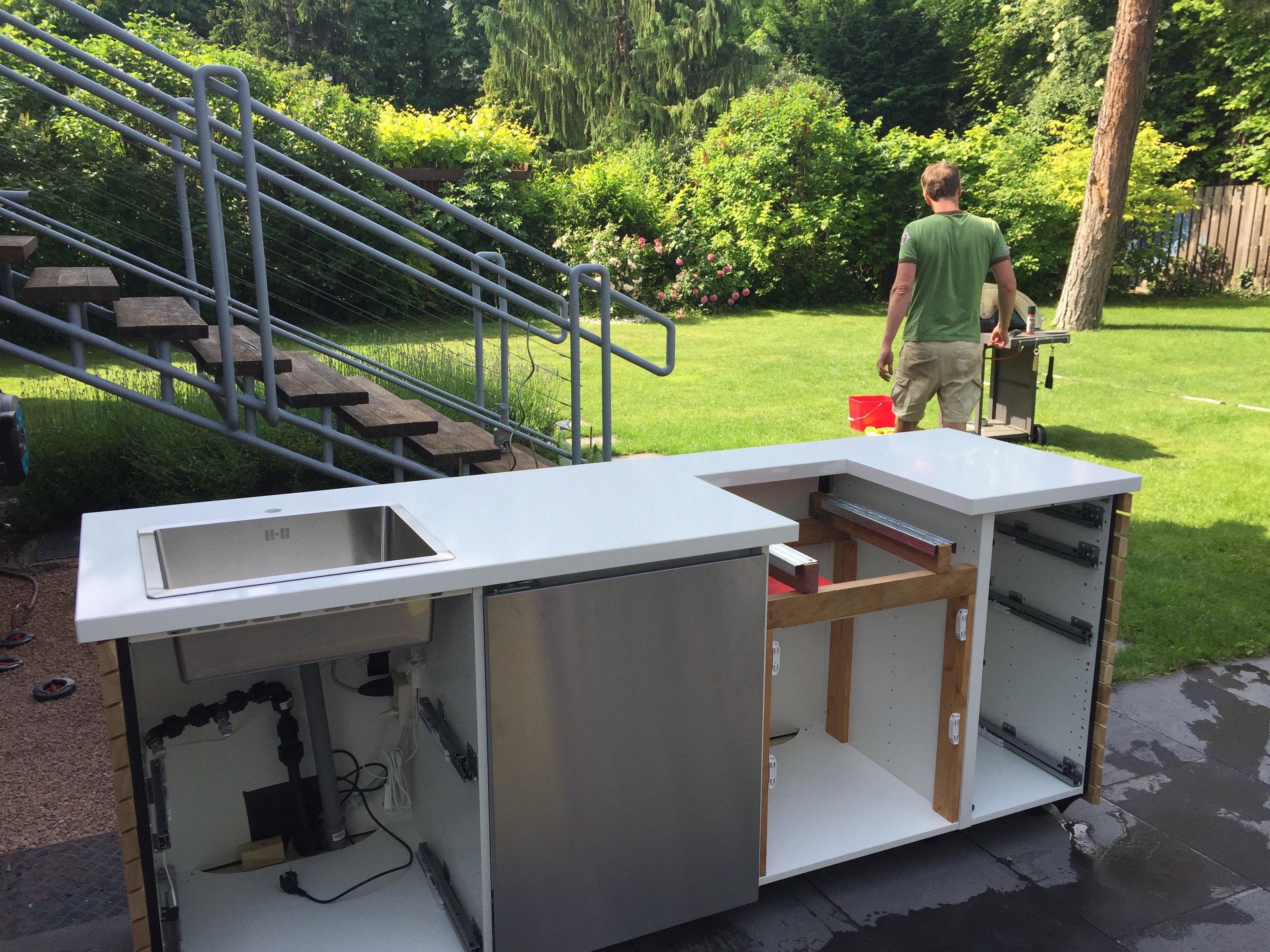 Outdoorküche Mit Gasgrill : Diy outdoorküche ikea hack rut morawetz